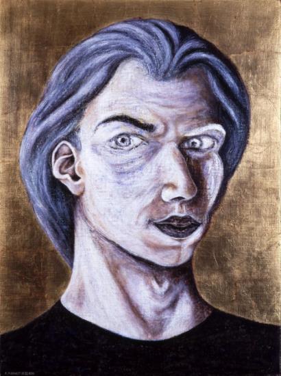"""""""Autoportrait"""" 1 encaustique"""