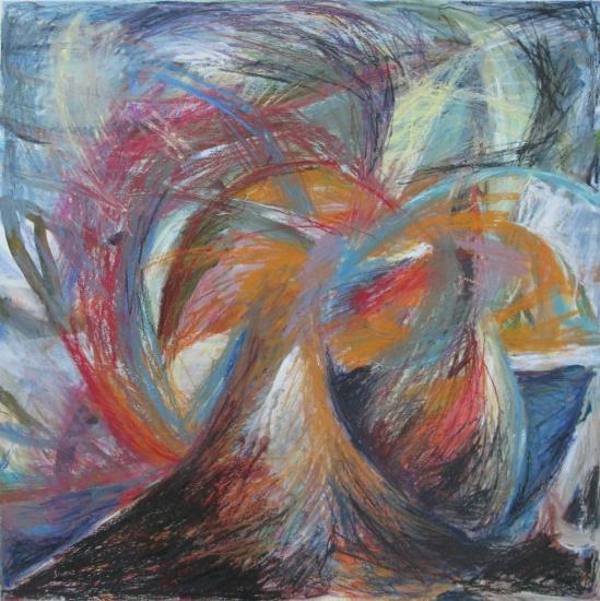Tempête-Acrylique et pastels à l'huile