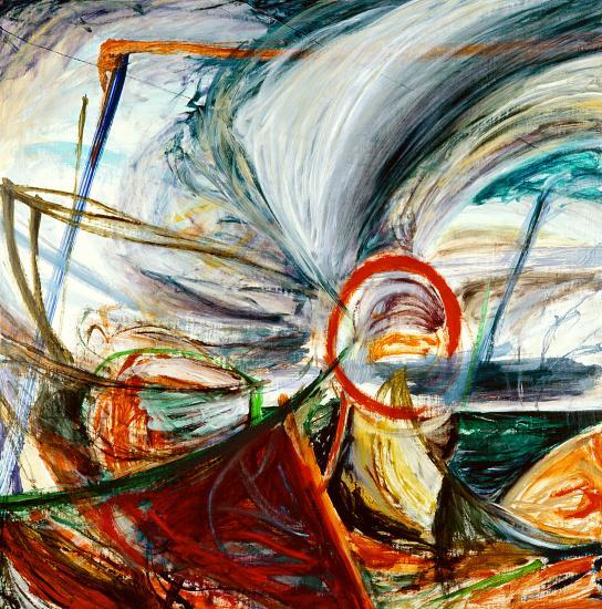 1996 la tempete - huile sur toile